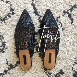 Topshop // woven slides